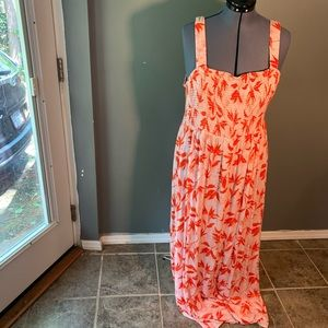 Forever 21+ Sleeveless Maxi Dress Pink Red Floral